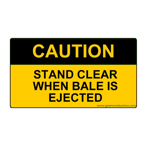 Caution - Stand Clear Small