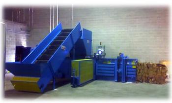 Open End Horizontal Baler W/ Conveyor