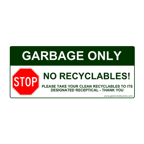 Garbage Only - No Recyclables Small